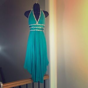 CACHE sz 4 teal prom hoco wedding cocktail dress